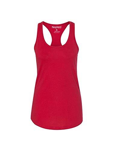 (Next Level Women's Apparel Ideal Quality Tear-Away Tank Top_Red_Medium)