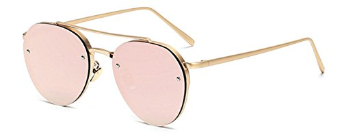 Aviator Gold Rose Mirror Lens Pink Metal Designer Fashion Sunglasses Men's Women's Non-Prescription - Glasses Prescription Amazon Non Fashion