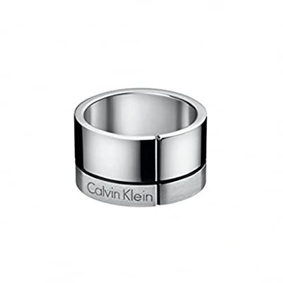 CALVIN KLEIN KJ3PMR090110 Men's CONSTRUCTED Steel Ring Size 10
