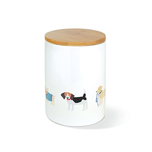 FRINGE STUDIO Happy Breeds Small Ceramic Treat Jar (463002)