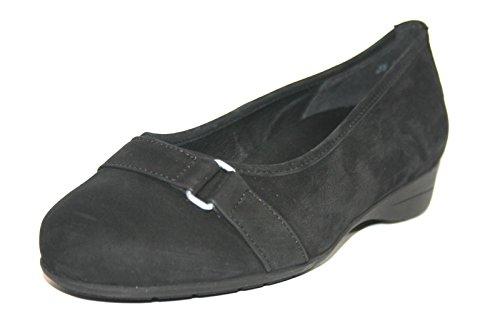 Meisi 91025-00074 Weite K Damen Schuhe Ballerinas Halbschuhe Schwarz