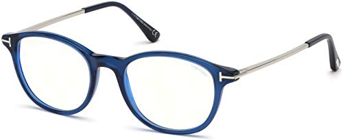 Eyeglasses Tom Ford FT 5553 -B 090 Shiny Transparent Blue, Palladium/Blue ()
