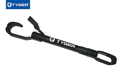 Tyger Auto TG-RK1B108B Deluxe Bike Top Frame Cross Bar Bicycle Telescopic Adaptor - Black by Tyger Auto (Image #2)