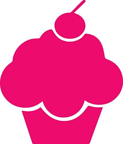 (ANGDEST [Set of 2] Cartoon Cupcake Kitchen JDM (Pink) - Handmade - Premium Quality - Waterproof Vinyl Decal Stickers for Laptop Phone Helmet Car Window Bumper Mug Tuber Cup Door Wall Decoration)