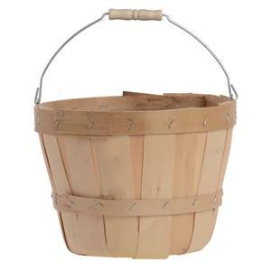 Half Peck Farm Basket with Metal Handle, Pack of 6 by Retail Resource