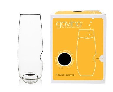 Govino Go Anywhere Champagne Flute, 8-Ounce, Pack of 4