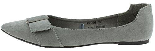 Capelli New York Ladies Flats Grey Pointy BNk5pF8Tc