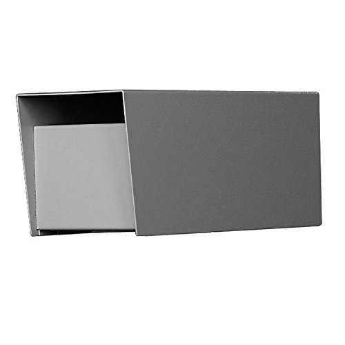 Letter Locker Mailboxes Locking Rear - Jayco LLLCKRURAL Residential Rear Locking Letter Locker Mailbox with incoming mail slot Gray