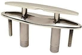 (Seachoice 30041 Pull Up Cleat with Studs - Flush Mount - 4-1/2 Inches Long - 316 Cast Stainless Steel)