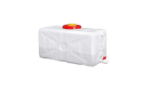 el contenedor de coche al aire libre // con tapa tanque de almacenamiento de agua de HDPE de calidad alimentaria de los hogares Contenedor blanco de espesor de almacenamiento de agua mango y el grif