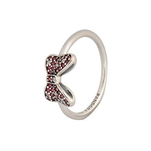Pandora 190956CZR-50nRing Disney, Minnie's Sparkling Bow with Clear and Red Cubic Zirconias (Pandora Bow Ring)