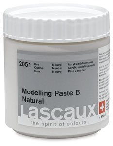 Lascaux Modeling Paste B - Natural, Rough, 1 Liter jar