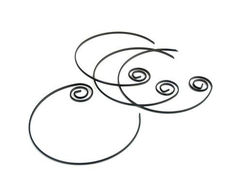 (Charcoal Companion Nonstick Circle Kabob Skewers, Set of 4)