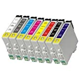 Prestige Cartridge T0540-9 Compatible Ink Cartridges for Epson Stylus Photo R800/R1800- Assorted Colour (Pack of 18)