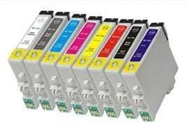Prestige Cartridge Epson T0540 T0541 T0542 T0543 T0544 T0547 T0548 T0549 - Pack de 16 cartuchos de tinta, multicolor