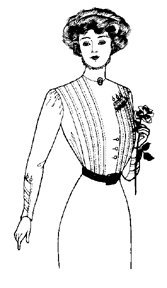 [1910 Edwardian Tucked and Side Closed Waist Pattern] (1910 Costumes)