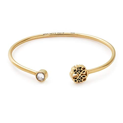 Alex Ani Women's Passth Of Life Cuff Bracelet 14kt Gold Plated Expandable