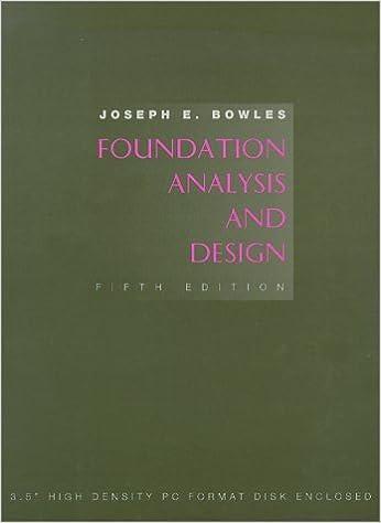 PDF] Foundation Analysis and Design by Joseph E. Bowles