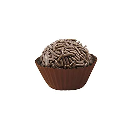 Amazon.com: Liners for Candies (Forminha de Brigadeiros) (Brown/Marrom - 5): Kitchen & Dining
