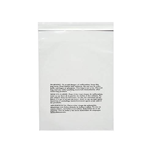 "PACK OF AMERICA 8x10 Clear Pack of 200 Poly Bags | 1.5 Mil Industrial Strength | Safety Suffocation Warning Printed | Multiple Size Options | Not Resealable | Permanent Extra Strong Self Seal 8""x10"" from PACK OF AMERICA"
