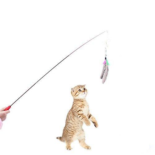 Drei einstellbare lustige Katze Stock, hoch elastische Kohlefaser Angelruten - echte Perle-Feder,