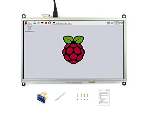 Waveshare 10.1inch HDMI LCD Resistive Touch Screen 1024600 High Resolution Display Designed for Any Revision of Raspberry Pi Zero/A+/B/B+/2 B/3 Model B