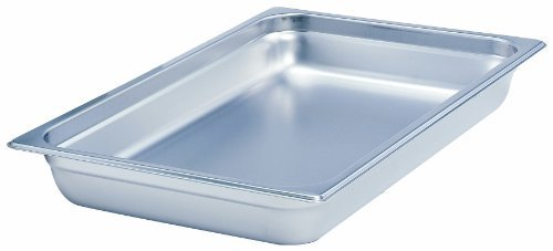 Crestware Commercial, 2334, Steamtable Pan, Stainless Steel, SAF-T-STAK, Two-Thirds x 4'' Inch Pan