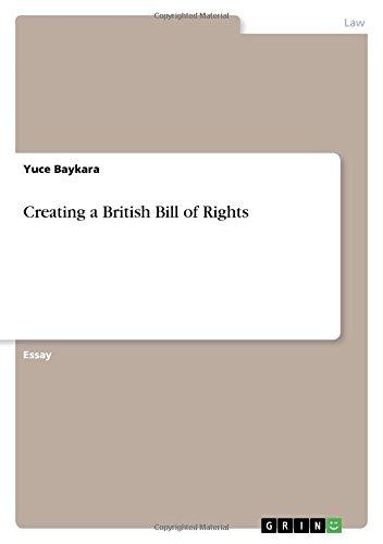 Creating a British Bill of Rights PDF