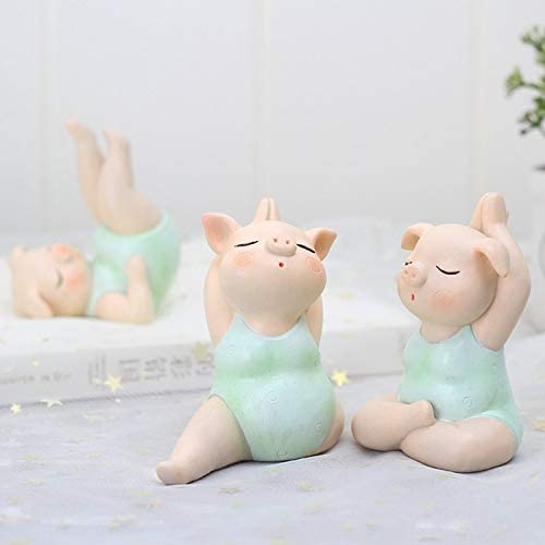 Resin Yoga Pig Portraits