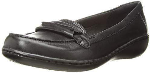 CLARKS Women's Ashland Lily Loafer,black leather,8.5 M US