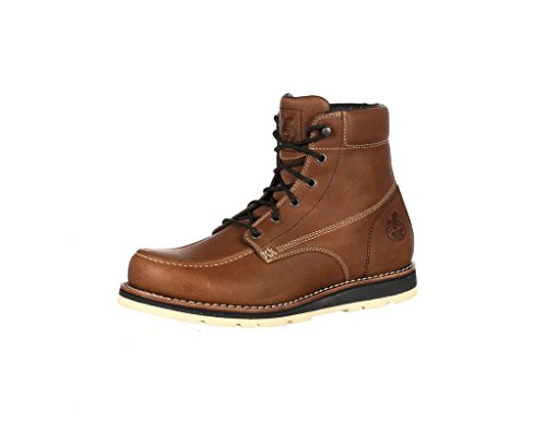 Georgia Boot Men's 6'' Wedge Work Boots, Brown Leather, 11 M