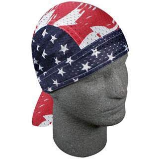 - Zan Headgear Flydanna Patriotic Vented Polyester Mesh Bandanna - One Size