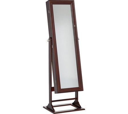 Jewelry Mirror Gold & Silver Safekeeper Jewelry Lighted Armoire by Lori