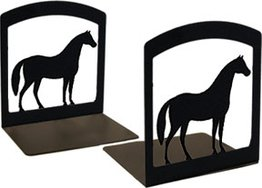 VWI BE-68 Horse Book Ends Powder Coated Iron Horse Bookends