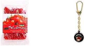 [2点セット] 収穫の朝 さくらんぼグラッセ ラム酒風味(180g)・さるぼぼ 身代り鈴 キーホルダー 【黒】/ 魔除け おまもり//
