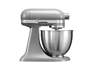 KitchenAid Mini 250W 3.3L Gris - Robot de cocina (3,3 L, Gris, palanca, 200 RPM, 1,219 m, CC): Amazon.es: Hogar