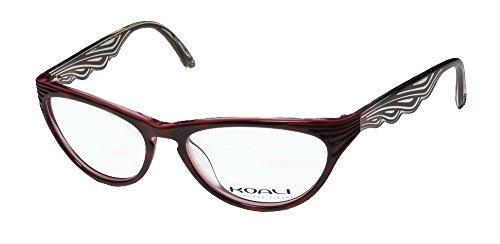 Koali 6945k Womens/Ladies Cat Eye Full-rim Eyeglasses/Eyewear (52-16-135, Burgundy / Raspberry) (Frame Eyeglasses Burgundy)