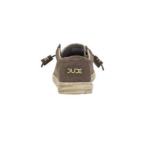 Hey Dude Shoes Men's Wally Classic Wenge Brown E8ath4yuna
