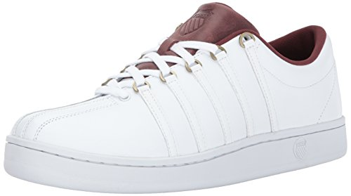 K-Swiss Men's Classic 88 Sneaker, White/Rum Raisin, 10 M US