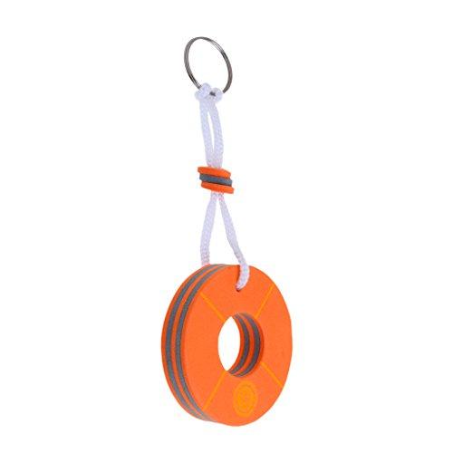 Dovewill Yacht Boating Drifting Sailing Buoyant Floating Key Chain Key Ring Keys Holder- Buoy Shape ()