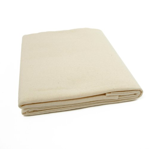 Quilters Dream Wool Batting (61in x 60in) Throw, White ()