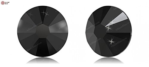 - Swarovski XILION Rose Enhanced Flat Back No-Hotfix (2058) SS9 - JET (280) With Platinum Foiling x 1440 Pieces