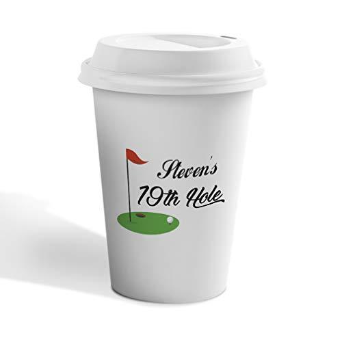 Hole 19th Ceramic - Personalized Custom Text Golf 19th Hole Sports Ceramic Travel Mug