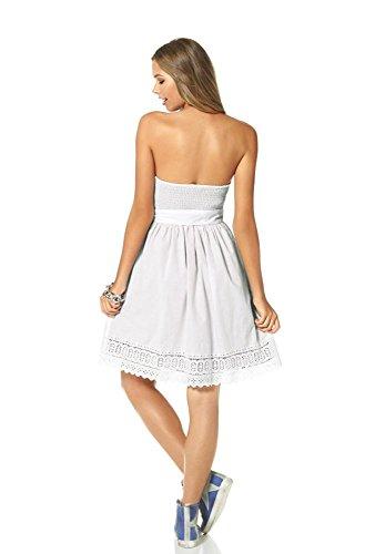 para Blanco Vestido 38 Opaco Trapecio Mujer Ajc TWfwSxq