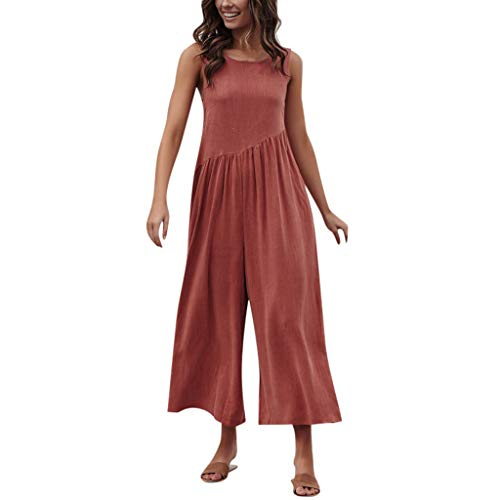 - UONQD Women Jumpsuit Holiday Mini Playsuit Ladies Summer Beach Rompers Red