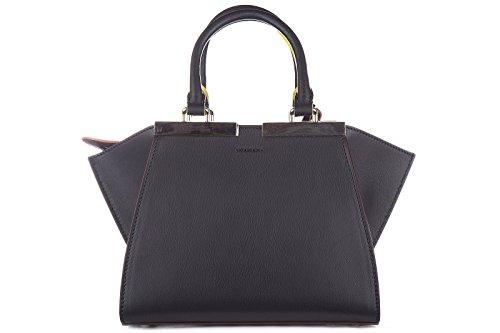 Fendi sac à main femme en cuir 3jours mini blu