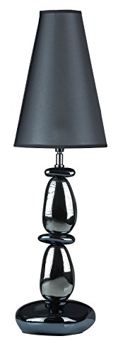 Chrome Lava Lamp (Cortesi Home Lava Table Lamp, Chrome and Blue with Black Shade)