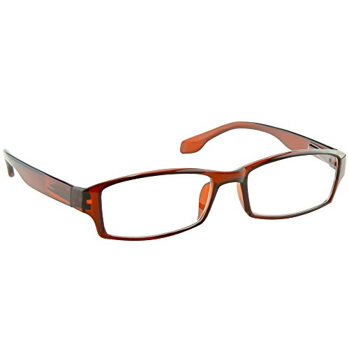 Brown Reading Glasses Men and Women _ Have a Stylish Look and Crystal Clear Vision When You Need It _ Comfort Spring Arms & Dura-Tight Screws _ 180 Day 100% Guarantee  2.00