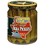 Talk O Texas Mild Okra Pickles, 16 oz (Pack of 6)