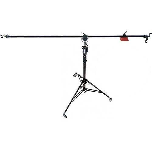 Manfrotto 025BS Super Boom 2 Section Aluminum Stand with Casters (Black)